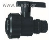 "BALL VALVE MALE-FEMALE M-F 3/4""X3/4"""