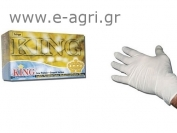 GLOVES SINGLE USE LATEX M (100pcs)