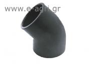 ELBOW 45o (SOLVENT GLUING) Ø90