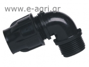 ELBOW MALE THREADED LOCK Ø32Χ1""