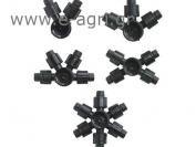 """INDENTED MULTI COUPLING TRIPLE DRIPPER PIPE 1""""ΧΦ20"""