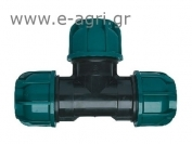 TEE COMPRESSION COUPLING Ø75Χ75Χ75