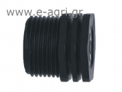 MALE THREADED PLUG 1 ¼""