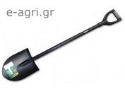 ROUND POINT SHOVEL LETTICIA WITH METAL HANDLE